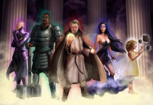 Five of the Aeons: Vex, Krath, Drak, Skyrus, and Pasi.